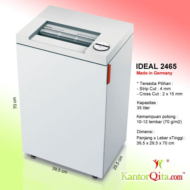 Mesin Penghancur Kertas Paper Shredder IDEAL 2465 SC