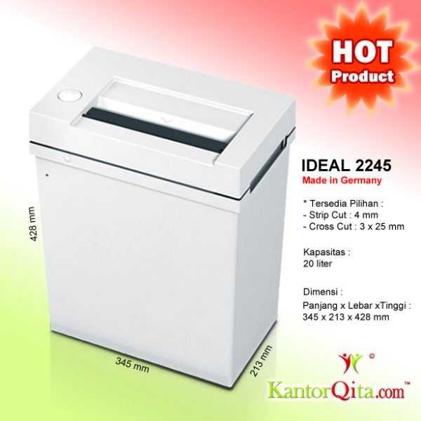 Mesin Penghancur Kertas Paper Shredder IDEAL 2245 SC