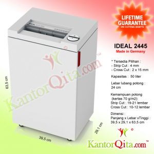 Mesin Penghancur Kertas Paper Shredder IDEAL 2445 SC