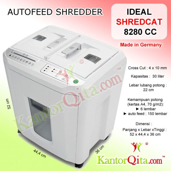 Penghancur Kertas Autofeed Shredder IDEAL 8280