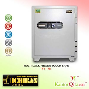 Brankas ICHIBAN FT-78 Multi Lock Finger Touch Safe Tahan Api