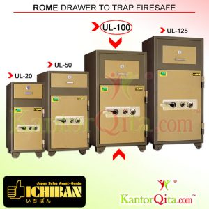 Brankas ICHIBAN UL-100 Rome Drawer To Trap Firesafe